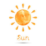 Abstract illustration of the sun. Watercolor illustration of the sun. Vector Royalty Free Illustration