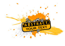 Abstract illustration with text. Stock Photos