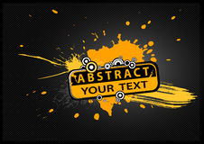 Abstract illustration with text. Stock Images