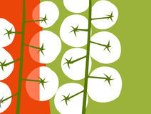 Abstract illustration of tomatoes Royalty Free Stock Photo