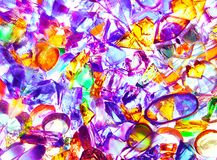 The abstract illustration of transparent colored glass. stock photo