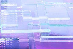 The abstract illustration of transparent colored glass. The abstract illustration of transparent colored glass for text, banner, poster, label, sticker, layout royalty free illustration