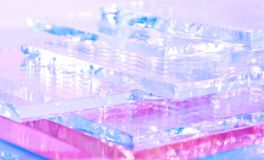 The abstract illustration of transparent colored glass. The abstract illustration of transparent colored glass for text, banner, poster, label, sticker, layout stock illustration