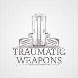 Abstract illustration of traumatic weapons Royalty Free Stock Photo