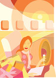Abstract illustration about travel Stock Photos
