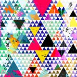 Abstract illustration, with triangles, vector Stock Images