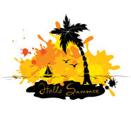 Abstract illustration - Tropical journey Stock Photos