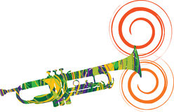 Abstract illustration of a trumpet Royalty Free Stock Images