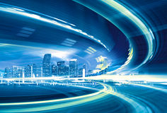 Abstract Illustration of an urban highway Royalty Free Stock Photography