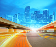 Abstract Illustration of an urban highway Royalty Free Stock Images