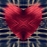 Red heart on a checkered background. Blurred effect. Vector. Royalty Free Stock Photo