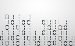 Abstract illustration. Vector streaming binary code background. Stock Photos