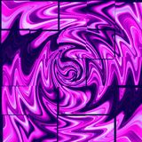 Purple spiral on a violet background. Stock Photos
