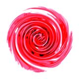 Red spiral on a white background. Royalty Free Stock Photos