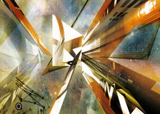 Abstract illustration. virtual background. Royalty Free Stock Photography