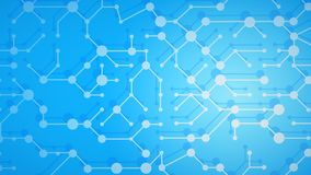 Abstract background of connecting lines and dots. Abstract illustration of white connecting lines and dots with shadows on light blue background stock illustration