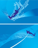 Abstract illustration windsurfing Stock Image