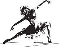 Abstract Illustration of women dancing. Vector illustration of women dancing Royalty Free Stock Photos