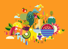 Abstract illustration World Fruit Royalty Free Stock Images