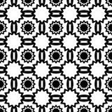 Black and white pattern of stars and strips. Stock Photo