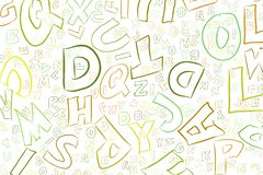 Abstract illustrations of alphabets letters, conceptual. Texture, cartoon, sketch & digital. Abstract illustrations of alphabets letters, conceptual. Good for vector illustration