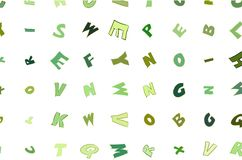 Abstract illustrations of alphabets letters, conceptual. Texture, cover, messy & shape. Abstract illustrations of alphabets letters, conceptual. Good for design royalty free illustration