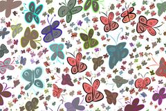 Abstract illustrations of butterfly, conceptual. Creative, cartoon, repeat & background. Abstract illustrations of butterfly, conceptual. Good for design royalty free illustration