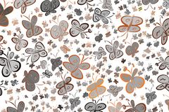 Abstract illustrations of butterfly, conceptual. Wallpaper, style, surface & art. Abstract illustrations of butterfly, conceptual. Good for design background Royalty Free Illustration