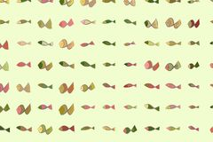 Abstract illustrations of fish, conceptual pattern. Backdrop, decoration, nature & sketch. Abstract illustrations of fish, conceptual pattern. Good for design Stock Photography
