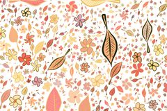Abstract illustrations of leaves & flowers, conceptual pattern. Color, green, line & messy. Abstract illustrations of leaves & flowers, conceptual pattern. Good vector illustration