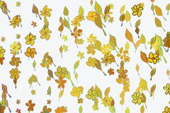 Abstract illustrations of leaves & flowers, conceptual pattern. Color, nature, drawing & cover. Abstract illustrations of leaves & flowers, conceptual pattern royalty free illustration