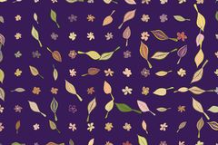 Abstract illustrations of leaves & flowers, conceptual pattern. Details, design, line & digital. Abstract illustrations of leaves & flowers, conceptual pattern Royalty Free Illustration