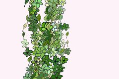 Abstract illustrations of leaves & flowers, conceptual pattern. Digital, surface, canvas & background. Abstract illustrations of leaves & flowers, conceptual stock illustration