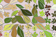 Abstract illustrations of leaves & flowers, conceptual pattern. Messy, decoration, canvas & drawing. Abstract illustrations of leaves & flowers, conceptual Vector Illustration