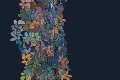 Abstract illustrations of leaves & flowers, conceptual pattern. Shape, decoration, hand-drawn & repeat. Abstract illustrations of leaves & flowers, conceptual vector illustration