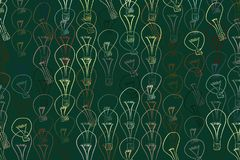 Abstract illustrations of light bulbs, conceptual pattern. Style, repeat, cartoon & line. Abstract illustrations of light bulbs, conceptual pattern. Good for stock illustration