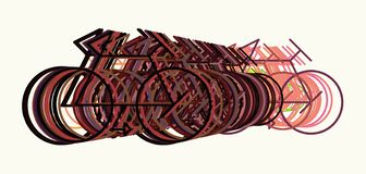 Abstract illustrations of outline of bicycle, conceptual. Shape, effect, digital & artwork. Abstract illustrations of outline of bicycle, conceptual. Good for royalty free illustration