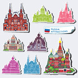 Abstract illustrations of Russia attractions Stock Photography