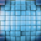 Abstract image of 3d cubes. Colorfull background in blue toned Stock Images