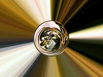 Abstract image of a ball in space with multicolored rays Royalty Free Stock Images