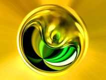 Abstract image of a ball in space with multicolored rays Royalty Free Stock Photos