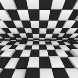 Abstract image: black and white cubes 3D illustration. Abstract image: black and white cubes. 3D illustration Royalty Free Stock Photography
