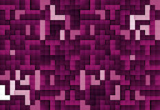 Abstract image of blocks background in purple toned Royalty Free Stock Photography