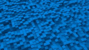 Abstract image of blue cubes background Stock Images