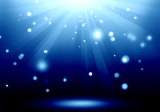 Abstract image of blue lighting flare on the floor stage : Fill. Object Vector Illustration