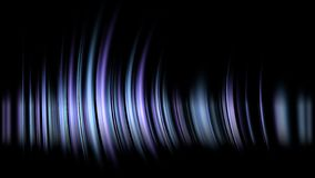 Abstract image of blurred blue. white and pink and yellow lights on a black background with sharp lines. Music and aurora light sound - aurora light - night stock illustration
