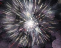 Abstract image, blurred fireworks Royalty Free Stock Images