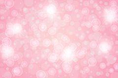 Abstract Bright Stars, Lights, Sparkles and Bubbles in Pink Background vector illustration