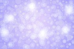 Abstract Twinkle Stars, Lights, Sparkles and Bubbles in Purple Background. Abstract image of bright lights, stars, bubbles, bokeh and sparkles in light purple stock illustration