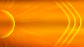 Abstract Bright Sun in Sunset Sky Background vector illustration